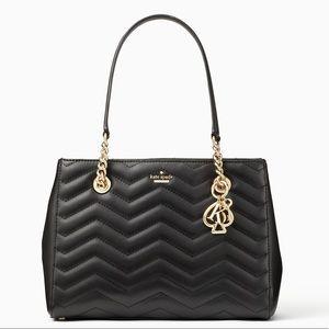 Kate Spade ♠️ NWT Black Quilted Shoulder Bag